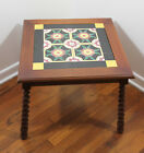 Vintage 1930 Antique California Mission Style Mexican Pottery Tile Floral Table