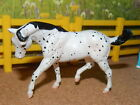 1998 BREYER STABLEMATE JAH BLACK LEOPARD CANTERING STOCK HORSE 5000 MADE