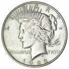 Early 1922 Peace Silver Dollar 90 US Coin 659