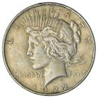 Over 90 Years Old 1922 Peace Silver Dollar 90 Silver 329