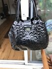 Womens Black French Connection Patent Handbag