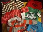 6 newborn baby boy outfits some NEW with tags monkey little brother rad