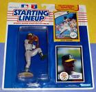 1990 DAVE STEWART Oakland Athletics A's Starting Lineup + 1981 Dodgers 0 s/h NM+