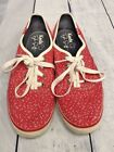 Taylor Swift Keds Red Shoes Sneakers Lace Up Womens Size 6