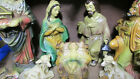 VTG Christmas Nativity with Manger Made in Japan Composition