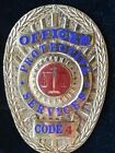 OBSOLETE CODE 4 ANAHEIM CA CALIFORNIA SECURITY POLICE SHERIFF MARSHAL BADGE HM