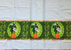 Vintage 60s Hawaiian HULA BOWL Fabric Tiki Football Hawaiiana remnant craft RARE
