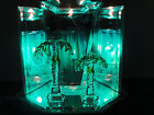 Electric Oil Tart Warmer Palm Trees Edition w Dimmer  Blue Lava Cylinder