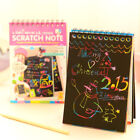Rainbow Paper Scratch Book with Pencil DIY painting dazzle color Note Book