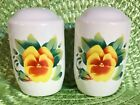 JAY Corelle Large Size SUMMER BLUSH Salt & Pepper Set Shakers Pansies