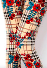 Butterfly Soft Leggings Christmas Reindeer Gingerbread Print Holiday ONE SIZE OS
