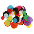 100pcs Mixed Round Felt Fabric Pads Patches Circle Fabric Flower Accessories