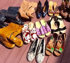 11 Pair Women Shoes WHOLESALE Boots LOT RESALE High Heels Clarks VANS Sandals
