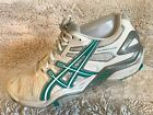 Asics Gel Resolution White grey Teal Tennis Athletic Sneakers Womens S 9 E350Y