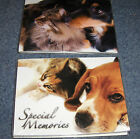 LOT OF TWO SPECIAL MEMORIES PHOTO FOLDERS FOR PET PICTURES