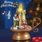 Christmas Musical Candle Xmas Nativity Scene Tabletop Decoration Table Lighted