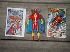 RED TORNADO COMPLETE 1985 SUPER POWERS KENNER 4 FIGURE WITH COMIC