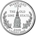2000 - P  Maryland   State Quarter  **BRILLIANT UNCIRCULATED**