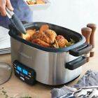 6Qt Multi Purpose Cooker Space Saving Saute Cook Steam Stainless Steel Crockpot