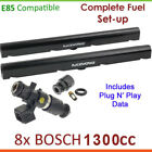 8x New BOSCH 1300cc E85 Injectors & Fuel Rail Set-up For Holden Caprice WH WK WL