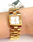 New Tommy Hilfiger Women's Yellow Tone SS Bracelet Watch Water Resistant