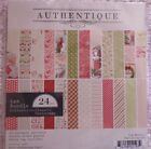 Authentique Classic Christmas 6x6 Double Sided Designer Papers w Bonus Tag