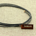 DAMIANI 2.0 MM BLACK LEATHER CORD CHOKER WRAP NECLKACE 18K PINK ROSE GOLD