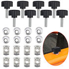 8pcs Easy On Off Hard Top Fasteners Nuts Bolts Screws Fit For Jeep Wrangler USA