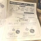 VINTAGE 70's--REVELL--BRUTE FORCE--INSTRUCTION SHEET--1/25--FREE SHIPPING