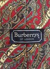 Mens Burberrys Of London Vintage Tie Red Gold Paisley Silk Necktie Power
