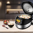 Touch Screen LED Rice Cooker Steamer Warmer Electric 10 Cups(Uncooked) Rice New