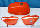 NEW FAIRINGS OILMASTER SET RED (FUEL TANK, SIDE COVERS) --JAWA 350 (634 + RETRO)