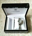 Ladies CITIZEN Eco-Drive Watch Mother of Pearl Dial & Diamond Accents - Wood Box