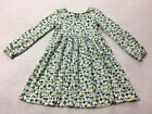 Gymboree 7 Hide N Seek Mushroom Dress Green Blue Vtg Front Lace Up