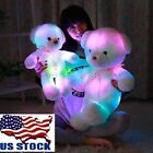 35cm Lovely LED Light White Teddy Bear Stuffed Kids Birthday Gift Baby Toy Gift