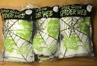 Decoration Spider Web Glow In The Dark Stretch 200 Sq Feet Scary Craft Lot Of 3