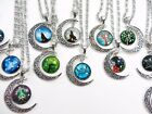 12 pieces wholesale cabochon moon necklaces jewelry bulk lot jewelry