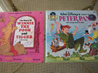 Winnie the Pooh plus Peter Pan Disney Disneyland read along book 2 books