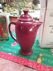Fiesta COVERED COFFEE SERVER 1st quality CINNABAR