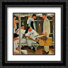Norman Rockwell 2x Matted 20x22 Black Ornate Framed Art Print 'Red Sox Rookie'