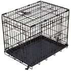 Portable Foldable Triple Door Kennel Great Dog Pet Cage Crate Elite By Precision