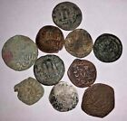 ISLAMIC COINS LOT ANCIENT UNCLEANED ARAB BYZANTINE HOLY LAND