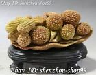 China Natural Shoushan Stone Hand Carving Fruit Litchi Peanut Groundnut Statue