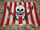 LEGO~PIRATE SHIP CLOTH SAIL~SKULL & CROSS SWORDS Jolly Rogers RED & WHITE STRIPE