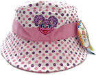 Small Girls Sesame St ABBY CADABBY Bucket Sun HAT Polka Dot Summer New One size