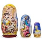 Set of 3 Nativity Scene Wooden Nesting Dolls 425 Inches