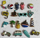 Origami Owl Fun  Sun Beach Themed Charms Swimsuit Sandcastle Kite Surf