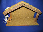 WOODEN CRECHE STABLE FOR 6 NATIVITY FIGURES 18X12X7 MADE IN TAIWAN