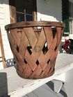 Antique Original Red Early Country Shaker Style Basket Waste New England Folk