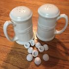 NEW 5 8 4 Replacement Salt and Pepper Shaker Stoppers plugs Set 2 White